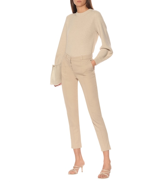 Loro Piana - Derk high-rise stretch-cotton pants - mytheresa.com