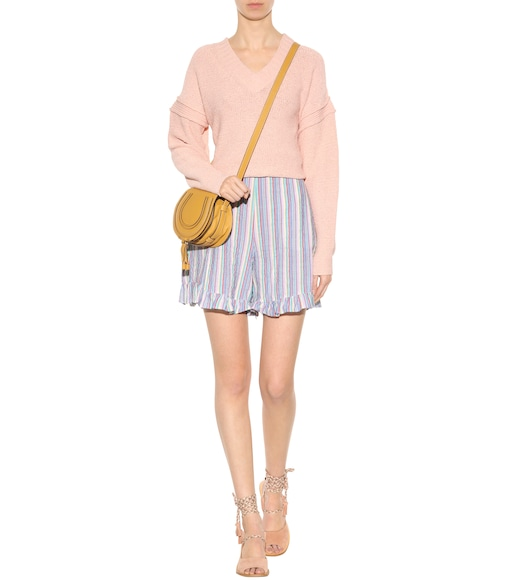 See By Chloé - Striped cotton shorts - mytheresa.com