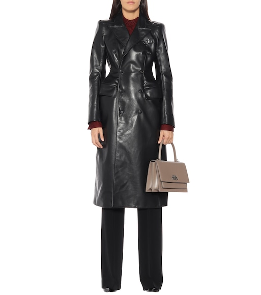 Balenciaga - Leather coat - mytheresa.com