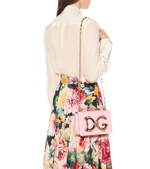 Dolce & Gabbana - DG Girls leather shoulder bag - mytheresa.com