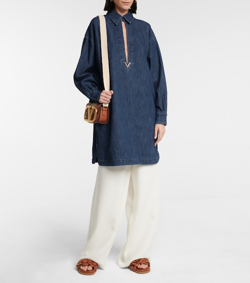 Valentino / Garavani - Valentino VGOLD chambray shirt dress - mytheresa.com