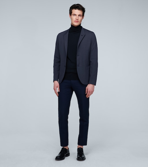 Harris Wharf London - Nehru coolmax seersucker blazer - mytheresa.com