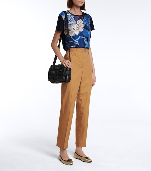 Salvatore Ferragamo - Cotton and silk straight pants - mytheresa.com