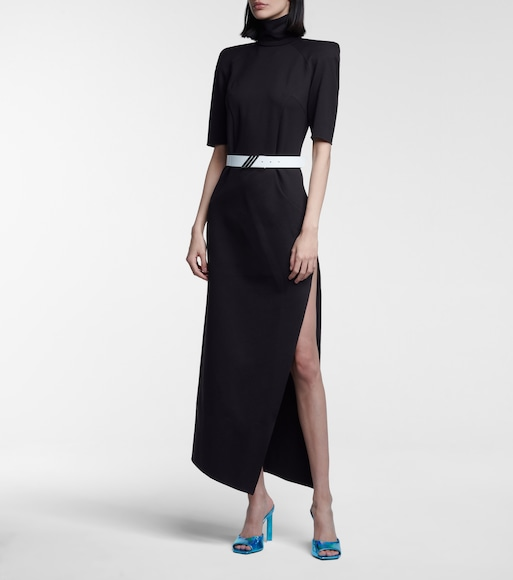 The Attico - Eva high-neck stretch-jersey midi dress - mytheresa.com