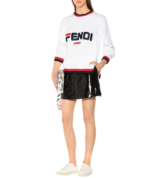 Fendi - FENDI MANIA cotton sweater - mytheresa.com
