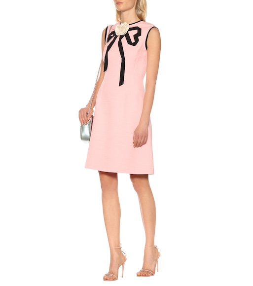 Gucci - Wool and silk crêpe dress - mytheresa.com