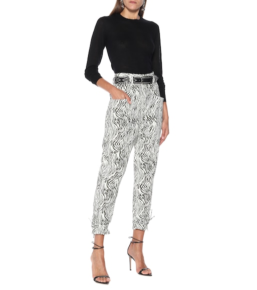 Isabel Marant - Badeloisa zebra-print leather pants - mytheresa.com