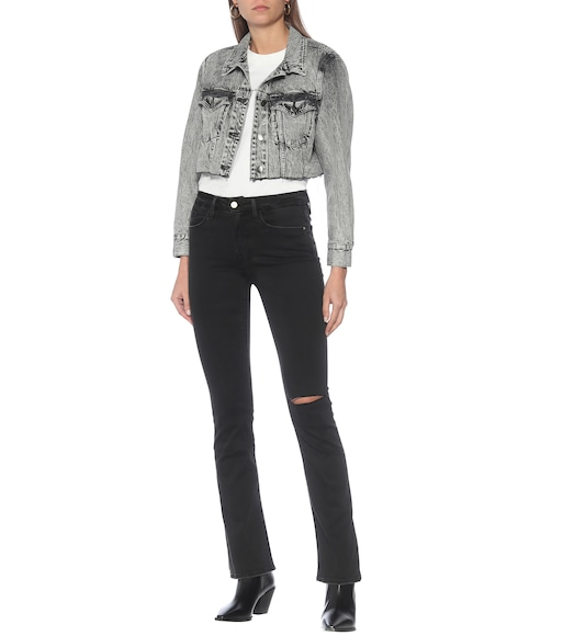 Frame - High-Rise Flared Jeans Le Mini Boot - mytheresa.com