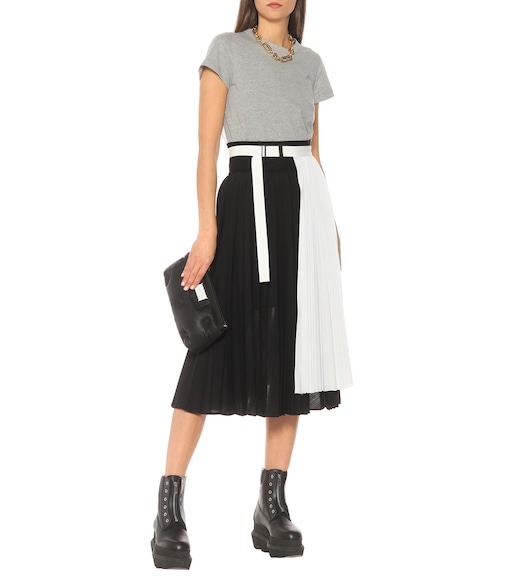 Sacai - Pleated wool midi skirt - mytheresa.com