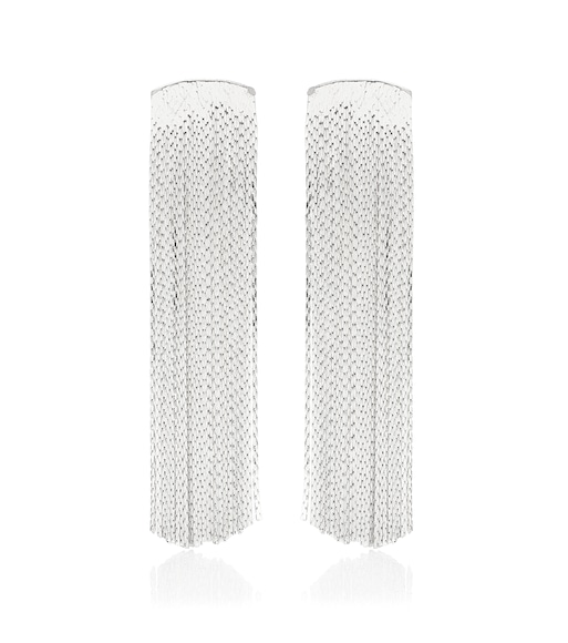 Anissa Kermiche - Grand Fil d'Argent sterling silver-plated earrings - mytheresa.com