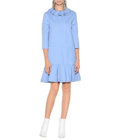 Gucci - Frilled crêpe minidress - mytheresa.com