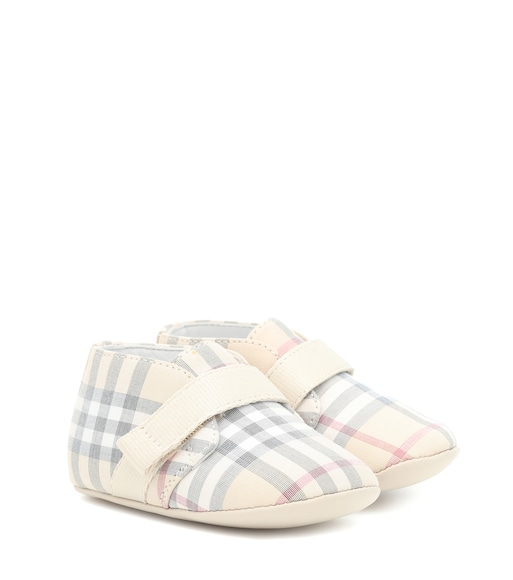 Burberry Kids - Checked booties - mytheresa.com