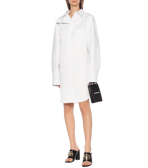 Balenciaga - Cotton-poplin dress - mytheresa.com