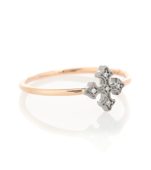 Stone Paris - Bague en or rose et or blanc rhodié 18 ct et diamants Passion - mytheresa.com