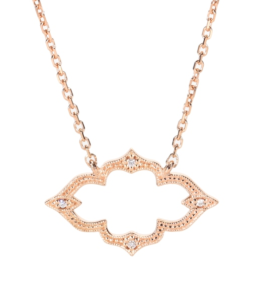 Stone Paris - Collier en or rose 18 ct et diamants blancs Moon River - mytheresa.com