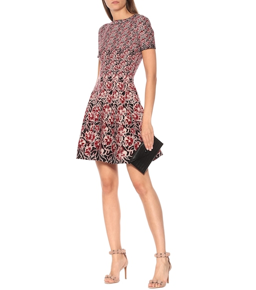 Alaïa - Floral stretch-knit dress - mytheresa.com