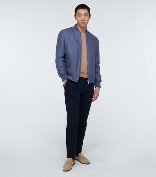 Brunello Cucinelli - Linen denim jacket - mytheresa.com