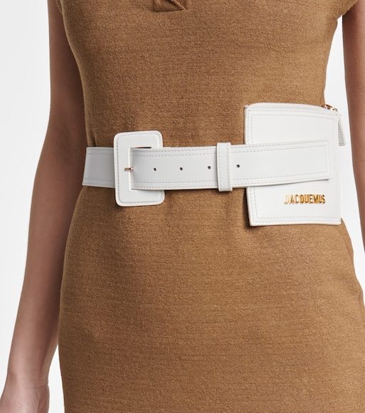 Jacquemus - La Ceinture Carrée leather belt - mytheresa.com