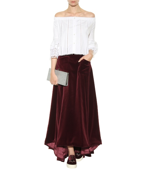 Carolina Herrera - Exclusive to mytheresa.com – off-the-shoulder cotton blouse - mytheresa.com
