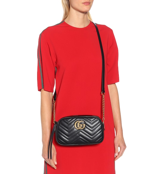 Gucci - GG Marmont Small shoulder bag - mytheresa.com