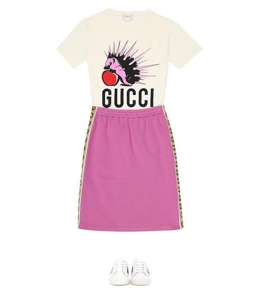 Gucci Kids - Printed cotton-jersey T-shirt - mytheresa.com