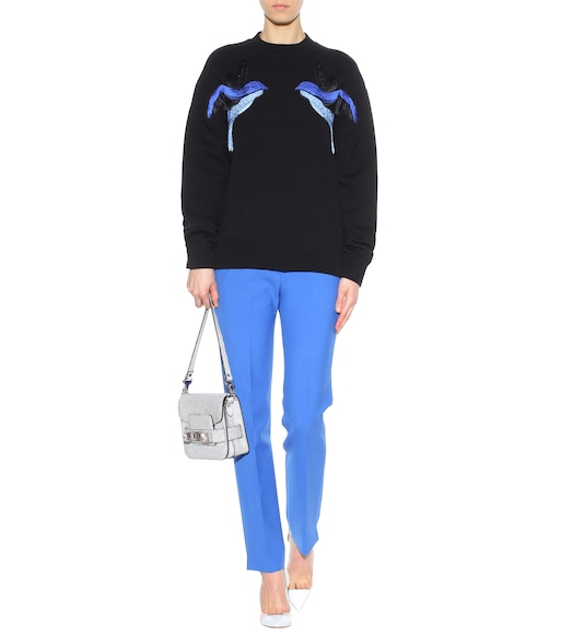 Victoria Victoria Beckham - Embroidered stretch-cotton sweater - mytheresa.com