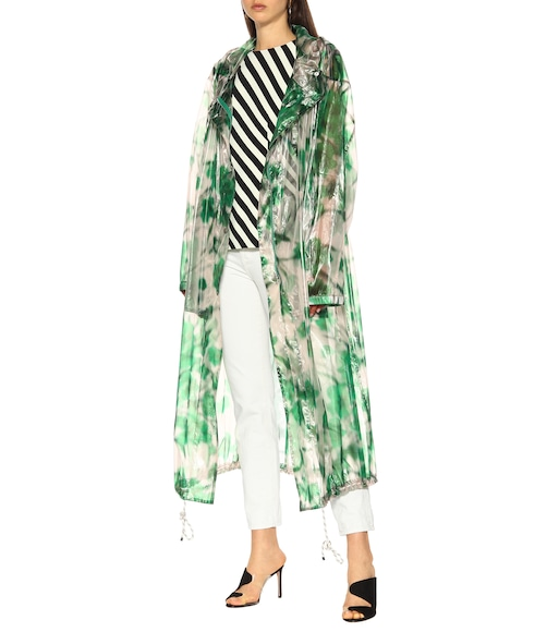 Dries Van Noten - Printed silk-blend organza coat - mytheresa.com