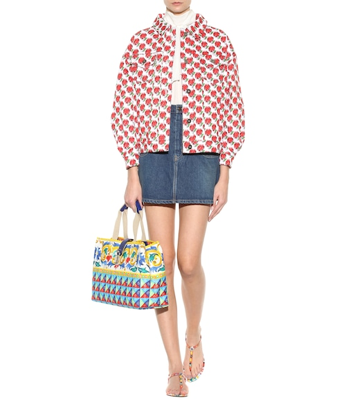 Dolce & Gabbana - Dolce Shopping printed canvas shopper - mytheresa.com