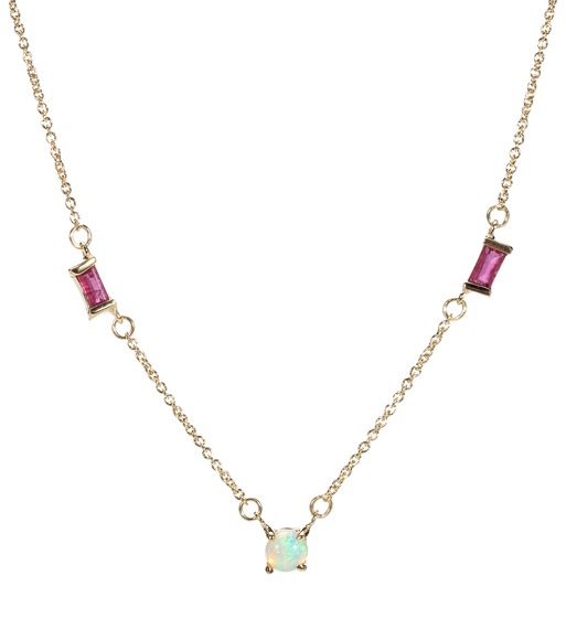 Aliita Opalo + Ruby 9kt gold necklace dygHp