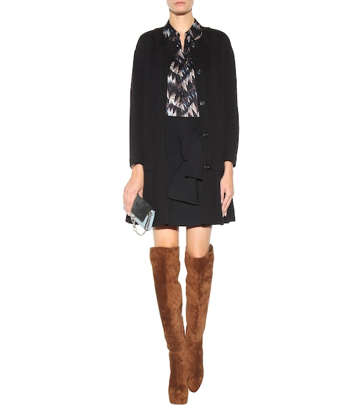 Gianvito Rossi - Temple suede over-the-knee platform boots - mytheresa.com