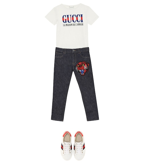 Gucci Kids - Gucci L'Amour printed T-shirt - mytheresa.com