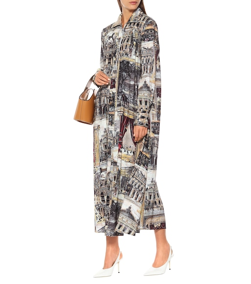 Acne Studios - Printed linen-blend maxi dress - mytheresa.com