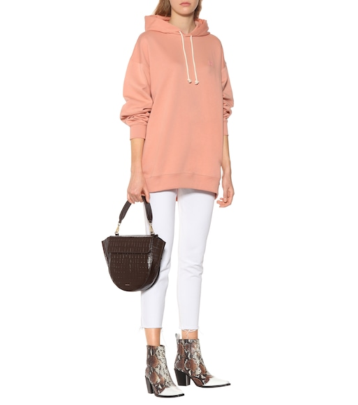 Acne Studios - Farrin Face oversized cotton hoodie - mytheresa.com