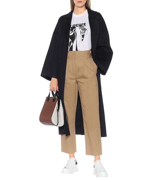 Loewe - High-rise cotton cropped pants - mytheresa.com