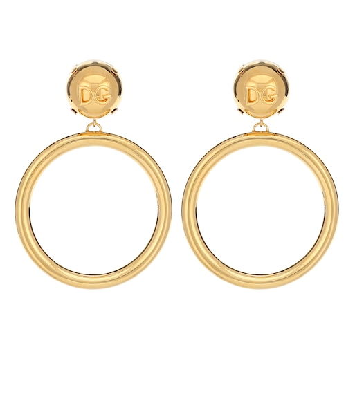 Dolce & Gabbana - Clip-on hoop earrings - mytheresa.com