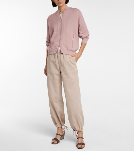 Brunello Cucinelli - High-rise wide-leg pants - mytheresa.com