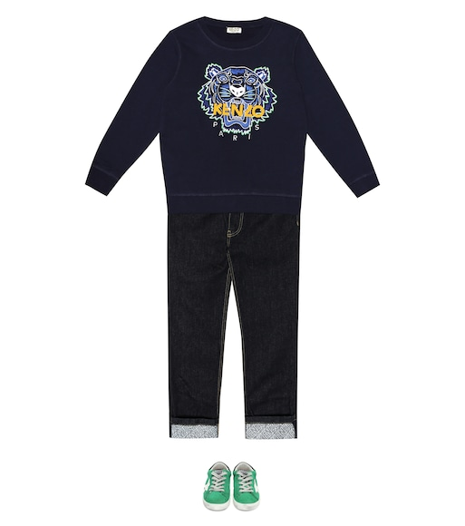 Kenzo Kids - Tiger logo cotton sweater - mytheresa.com