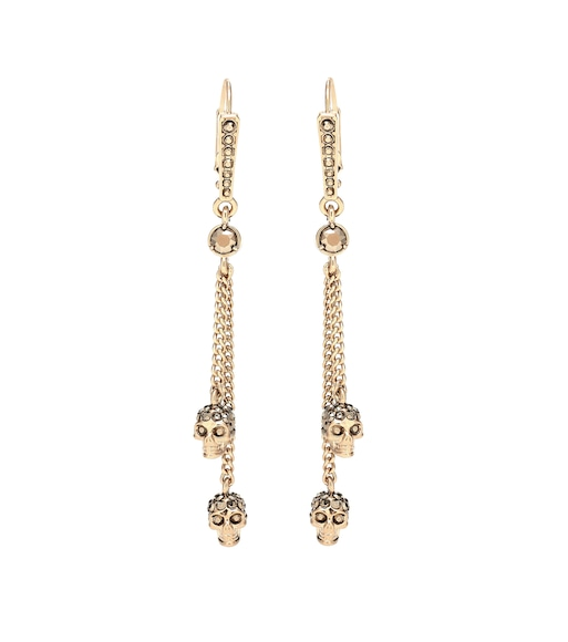 Alexander McQueen - Skull embellished earrings - mytheresa.com