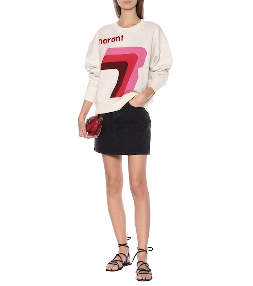 Isabel Marant, Étoile - Klero logo cotton-blend sweater - mytheresa.com