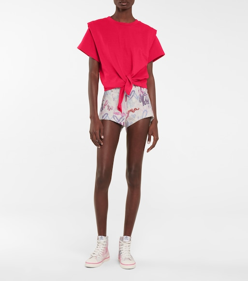 Isabel Marant - Deverson printed denim shorts - mytheresa.com