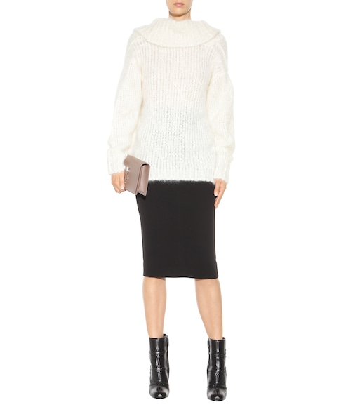 Tom Ford - Mohair and wool-blend off-the-shoulder sweater - mytheresa.com