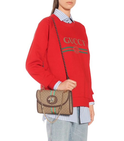 Gucci - Small Rajah GG shoulder bag - mytheresa.com