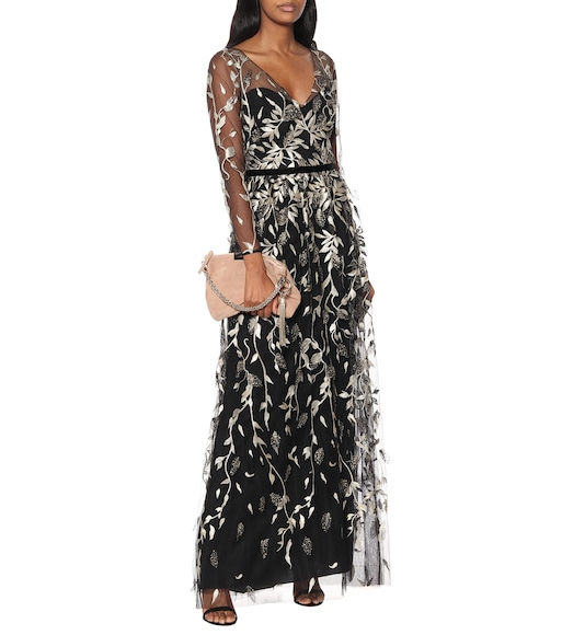 MARCHESA NOTTE - Embroidered tulle gown - mytheresa.com