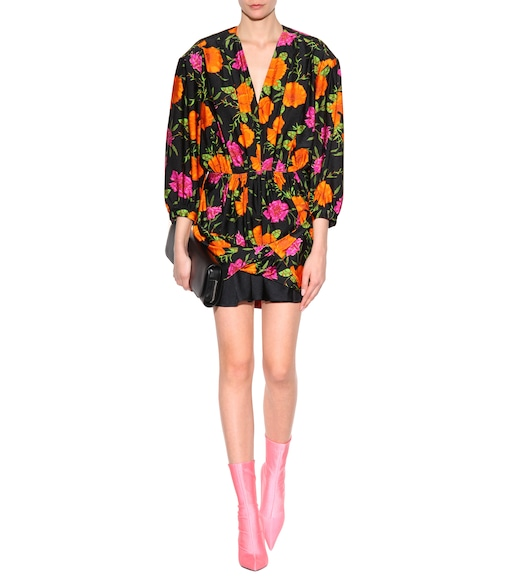 Balenciaga - Printed mini dress - mytheresa.com