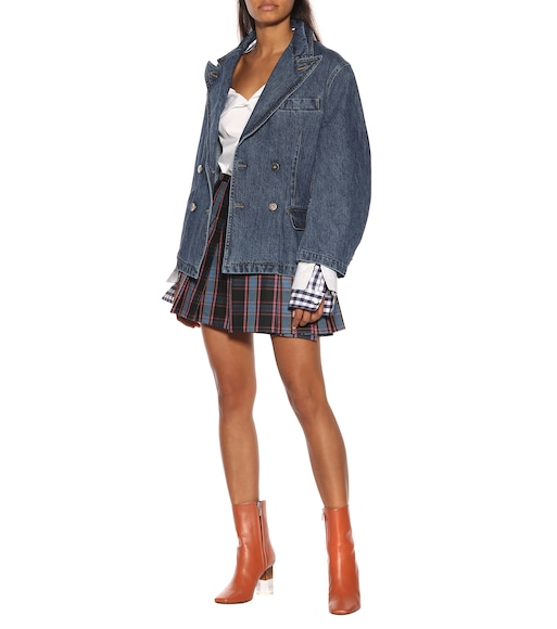 Matthew Adams Dolan - Checked wool-blend miniskirt - mytheresa.com