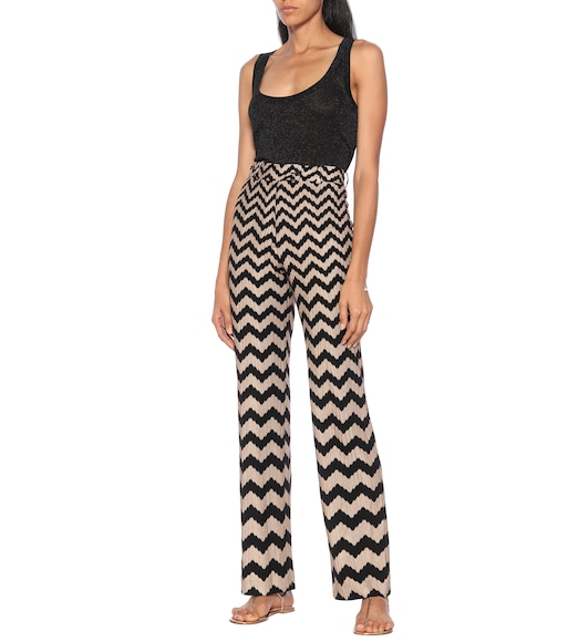 Missoni - Chevron knit flared pants - mytheresa.com