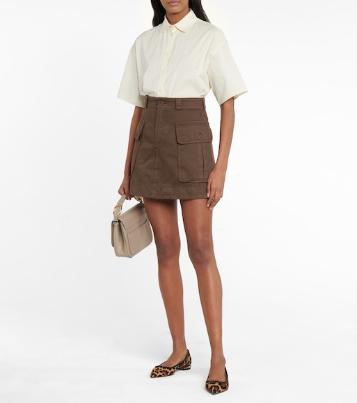 See By Chloé - Cotton twill miniskirt - mytheresa.com