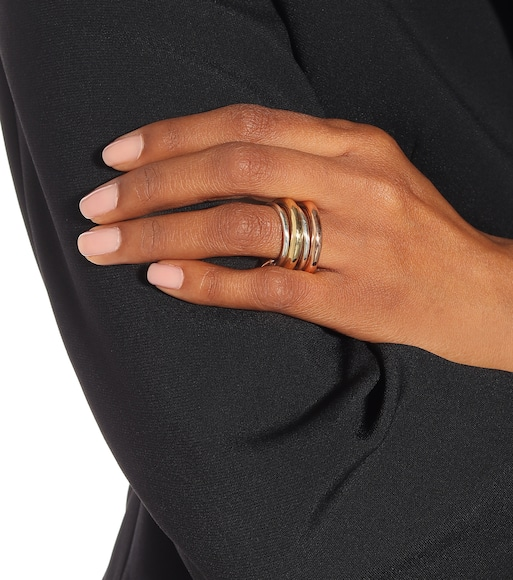 Spinelli Kilcollin - Cici Rose 18kt gold and sterling silver linked rings - mytheresa.com