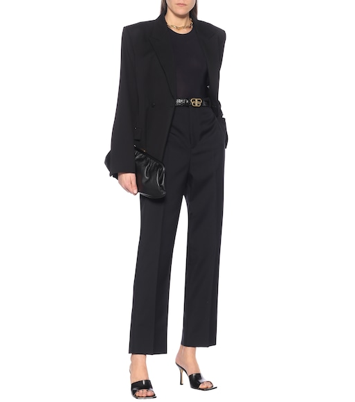 Balenciaga - Uniform wool-blend pants - mytheresa.com
