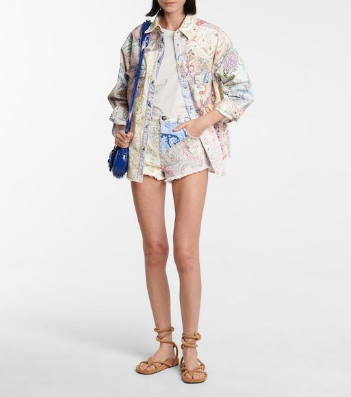 ETRO - Paisley denim high-rise shorts - mytheresa.com
